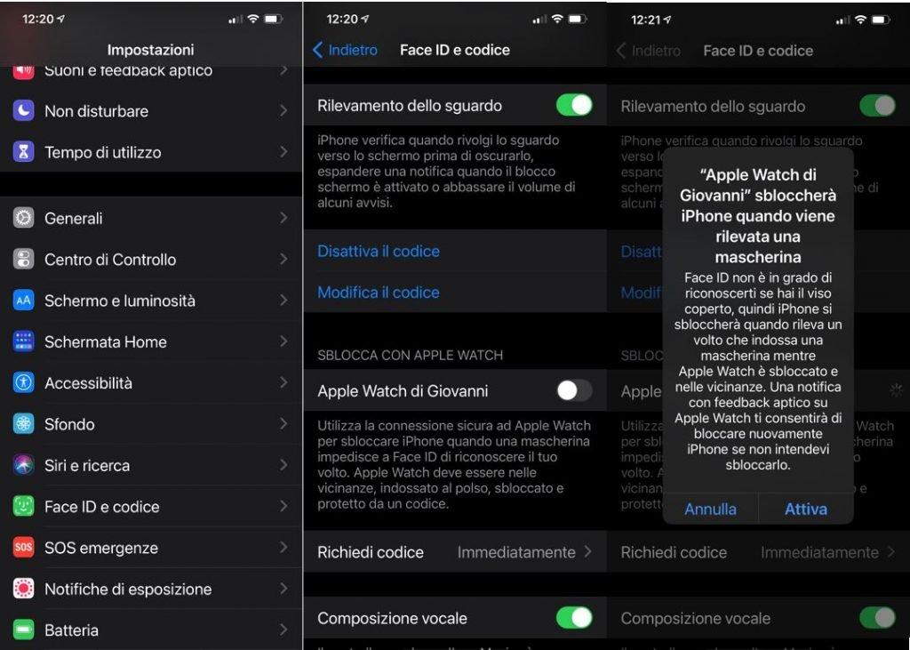 Come sbloccare l'iPhone con Apple Watch